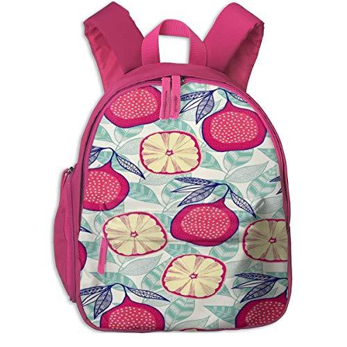 Mochila Escolar AOOEDM para niñas, niños, Mochilas de Dibujos Animados de higos con Frutas Lindas