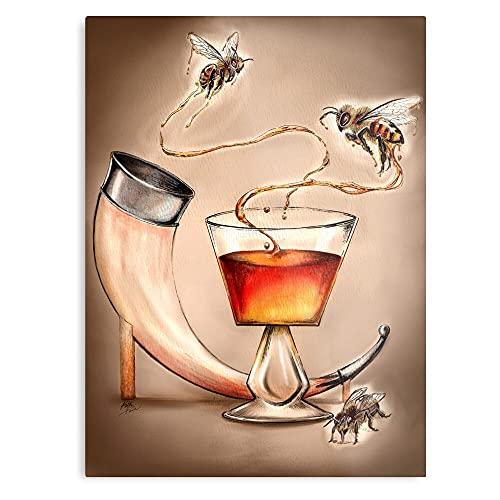 Impresión de pósteres de Mead Honey Bee con opciones de montaje en pared o de escritorio