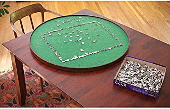 Bits and Pieces - Round Jigsaw Puzzle Spinner - Puzzle Accessories- Lazy Susan Puzzle Table Surface Fits 1000 pc Puzzles - Spin Puzzle to Reach Sections You Need