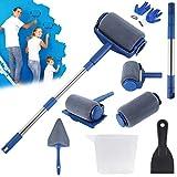 FIXKIT Farbroller Set, Farbroller Nahtlose Professionel Multifunktionale Haus Malwerkzeug Set, für Haus Schule und Büro Malerei Wand Decke