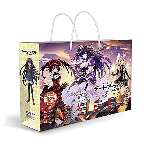 CHEONGS Date A Live Series/Anime Periphery/Anime Gift Box Set/with Poster/Postcard/Sticker/Bookmark/Greeting Card/Metal Badge/Collection Set, Etc. / Anime Blind Box/Metal Badge Etc for Ani