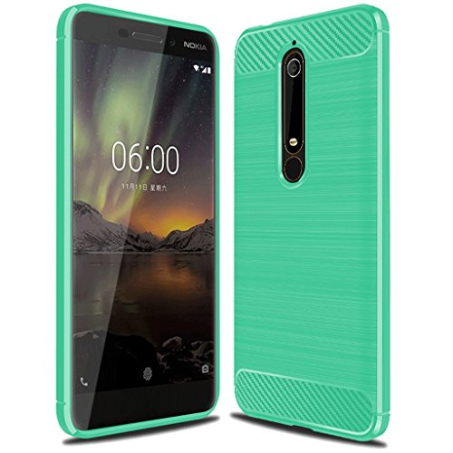 Nokia 6.1 Case,Nokia 6 2018 Case,Not for Nokia 6 2017',Sucnakp TPU Shock Absorption Technology Raised Bezels Protective Case Cover for Nokia 6 2018 (TA-1068) smartphone (Mint Green)