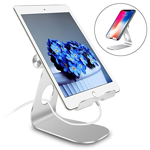 Pjp Electronics Tablet Stand Multi-Angle, Aluminum Desktop Adjustable Tablet Holder Compatible with iPad, Pro, Mini, Air, Pro 30 20, Galaxy, Samsung Tablet, Nintendo Switch, Other Tablets (4-13 inch)