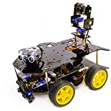 Yahboom Super Starter AI Robot Kit for Raspberry Pi 4B 3B+ with HD Camera Programmable 4WD Car Face...