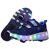 ZGRNB Unisex Bambino LED Lampeggiante Scarpe con Rotelle Automatiche Skate Formatori USB Carica Ginnastica Lampeggiante Outdoor Multisport Running Sneaker per Ragazzi e Ragazze