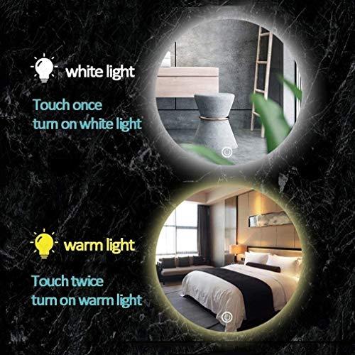 LED Leuchtet Badezimmerspiegel Berühren Sie Den Steuerschalter Wand Make-up Kosmetikspiegel Anti Nebel Für Wandfliesen Dusche Kinder (Color : 70cm(28inch)|with 1 Touch Switch)