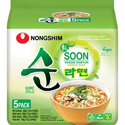 Nong Shim Fideos Instantáneos Veggie Ramyun, Family Pack 560 g