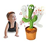 Dancing Cactus Recording and Repeats What You Say, Electronic Plush Toy with Lighting, Singing Cactus Recording and Repeat for Education Toys, Singing Cactus Toy, Cactus Plush Toy for Decor