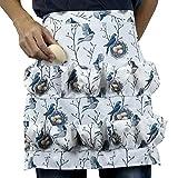HPPSLT Delantal con 12 bolsillos para recogida de huevos, delantal de granja de pollo, granja de trabajo, delantal de granja, 30 x 25 cm (color 50,8 x 46 cm)
