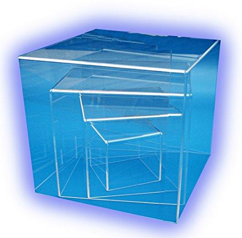 HOKU Holzhäuser Kunststofftechnik Spuckschutz aus Acrylglas Transparente Acryl-Box in Würfelform Plexiglas-schutzhaube Acrylic-Cube.Acrylglas-Anfertigung .Plexi-Box.25 x 25 x 25 cm .Plexiglas-Würfel