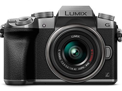 PANASONIC LUMIX G7 4K Mirrorless Camera, with 14-42mm MEGA O.I.S. Lens, 16 Megapixels, 3 Inch Touch LCD, DMC-G7KS (USA SILVER) (Renewed)