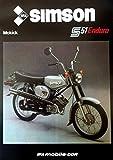 Schönes Prospekt Simson Mokick S 51 Enduro 50 ccm - DDR STIL 1985 VEB SUHL