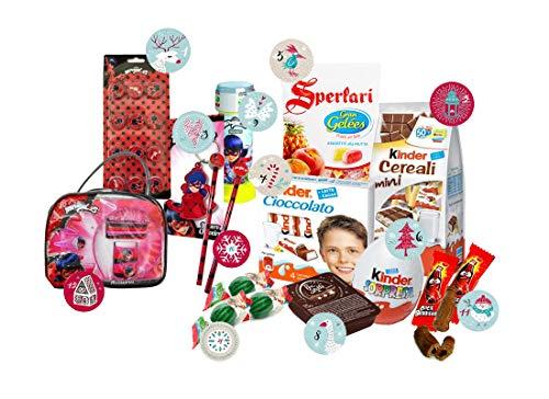 Irpot Assortimento di dolciumi e Gadget Calendario dell'avvento Personaggi Assortiti (Ladybug)