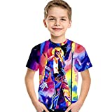 Lgandpg Kids Michael Jackson 3D Print T Shirt Boys Girls Summer Short Sleeve DJ Tee Shirts