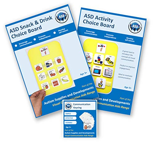 Communication Visuals Bundle (Plastic, Washable, Visual schedules for Autism/Learning Disabilities/ADHD)