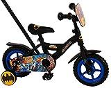 .Volare Vélo Enfants Garçon 10 Pouces Batman Conduite Avant et Arrière Roues de Stabilisation Noir Assemblé à 85%