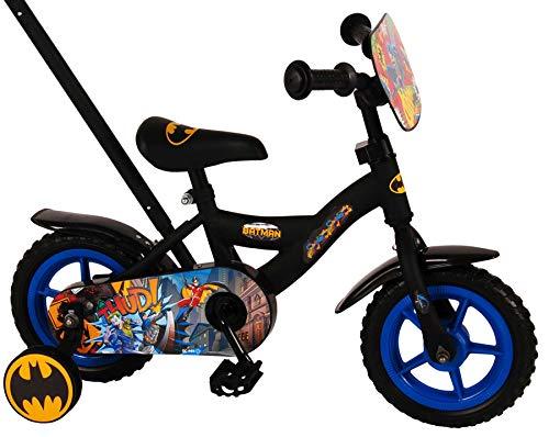 .Volare Bicicleta Infantil Niño 10 Pulgadas Batman Conducción Delantera y Trasera Negro por 85% Montada