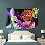 Anime Tapestry,Afro Black Girl Colorful Starry Lil U-zi-V-ert Tapestry Wall Hanging/Blanket/Couch Cover/Bed Cover/Curtain for Room Dorm Decor 60x40 inch