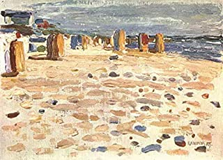 $50-$2000 Hand Painted Art Paintings by College Teachers - Beach Baskets in Holland Wassily Kandinsky Oil Painting for Wall Art Decor -Size 01