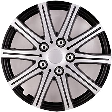 FUJI Hubcaps for Standard Steel Wheels Wheel Covers (Snap On) (Pack of 4