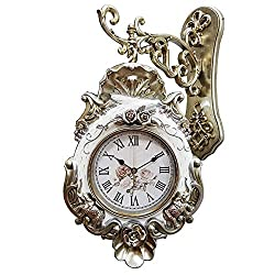 Metal European Style Double Sided Wall Clock Corridor Aisle Aisle Two-Sided Clock Retro Very Silent 20 in