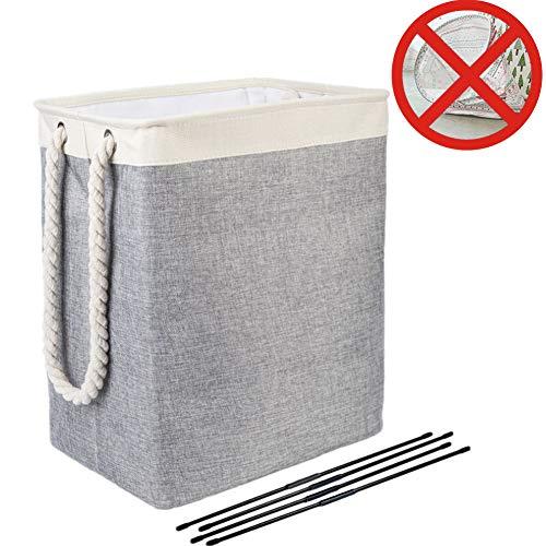 Nifogo Cubo Plegable Lino algodón Cesta Ropa Sucia