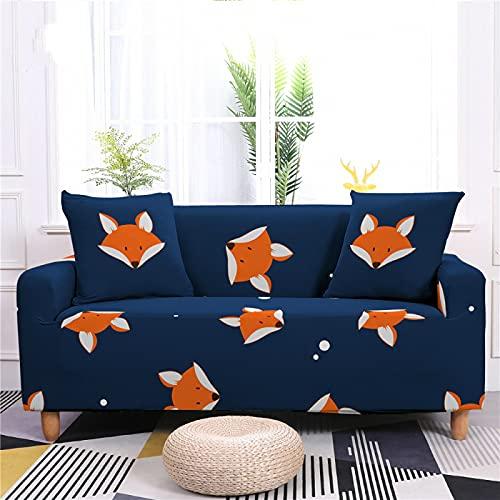 Ocean Small Fish Kitten Small Animal Series Funda De Sofá Color Todo Incluido Funda De Sofá Antideslizante Simple Funda Completa para El Hogar Funda De Sofá Elástica Grande Toalla