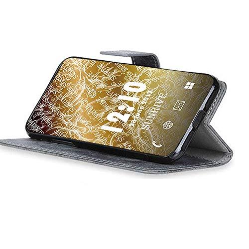 Sunrive Hülle Für Honor 4C/Huawei G Play Mini, Magnetisch Schaltfläche Ledertasche Schutzhülle Etui Leder Case Cover Handyhülle Tasche Schalen Lederhülle MEHRWEG(W8 Grau) - 2