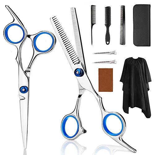 yotame Haarschere Friseurscheren Scharfe Set, Haarschneideschere Edelstahl zum Ausdünnen und Strukturieren Modellieren Professionelle Friseur-Sets