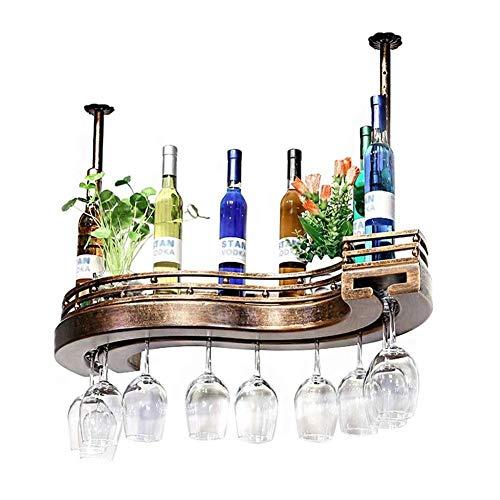 HTTJJ Botella de Vino de Cristal for Copas Estante de la Pared Estante del Vino fortificado, Titular de la Botella de Vino Estante for Copas Vasos Percha for la Cocina, Comedor, Bar o Bodega 8JJ88