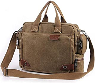 letaowl Bolsos de hombro Nueva Marca Lienzo Business Briefcase Bolso Bolso De Hombre Retro Hombro De Gran Calidad Bolsas D...