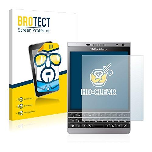 BROTECT Schutzfolie kompatibel mit BlackBerry Passport Silver Edition (2 Stück) klare Bildschirmschutz-Folie