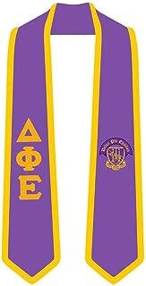 Delta Phi Epsilon DPHIE Greek 2 Tone Lettered Graduation Sash Stole