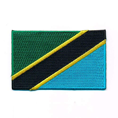 hegibaer 60 x 35 mm Tansania Afrika Flagge Dodoma Serengeti Aufnäher Aufbügler 1120 B