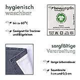 BewusstGrün I 12 Faire & Nachhaltige Stoffservietten I 100% Bio-Baumwolle I 45x45 cm Grau - 3