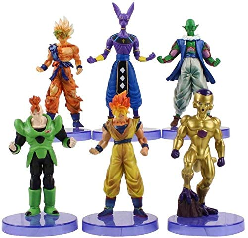 CXNY Figuras de accion 6pcs / Lot 14cm Dragon Ball Z PVC Goku Son Beerus Vegeta Juguetes Figuras Modelo para Regalos