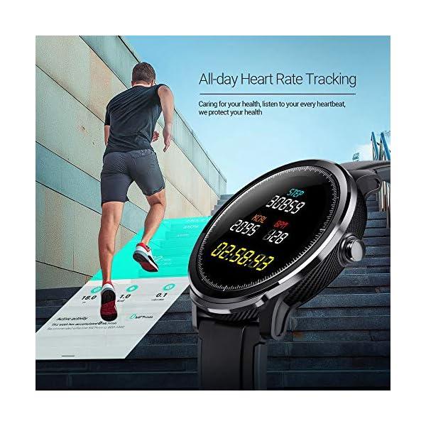 NACATIN SmartWatch, Reloj Inteligente Impermeable IP68, Bluetooth Relojes Deportivos Pantalla t¨¢ctil Completa, Pulsera… 7