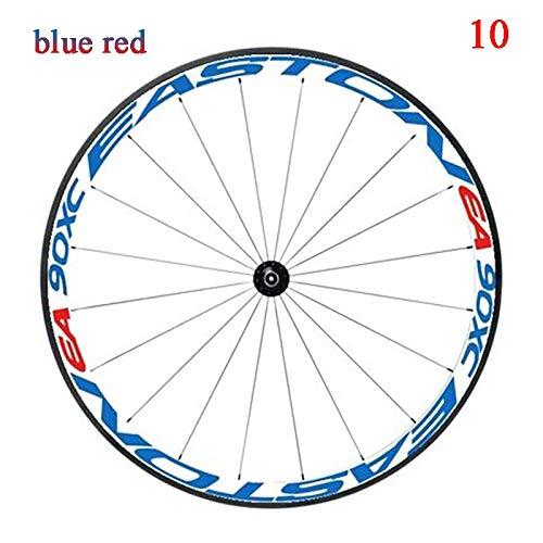 Multicolor Bike Ruedas Llantas Pegatinas Reflectantes Calcomanías Ciclismo Protector Seguro 26/27.5 Pulgadas Rueda de automóvil MTB Accesorios para Bicicletas Motocicleta Llanta Decal Pegatinas