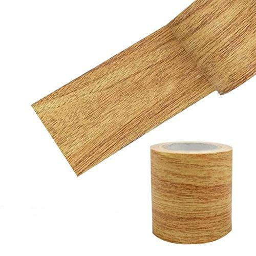 Cinta De Reparación De Vetas De Madera, 2.2 Pulgadas X 15 Pies, Impermeable, Realista, Cinta Adhesiva para Reparación De Vetas De Madera, Cinta Adhesiva Adhesiva para Muebles Piso Parche Autoadhesivo