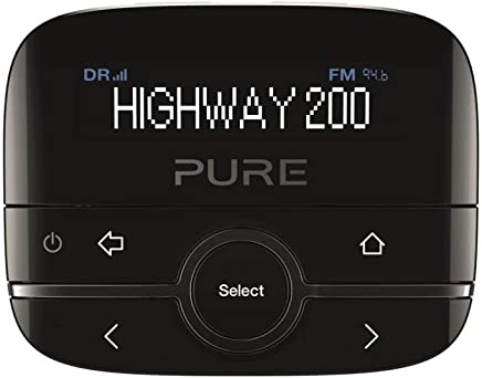Pure Highway 200 In-Car DAB/DAB+ Radio Adapter with Music via Aux-In, Black