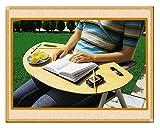 K + M MULTI Tisch MOBIL Naturholz Computertisch Bürotisch Schreibtisch Frühstücksbrett