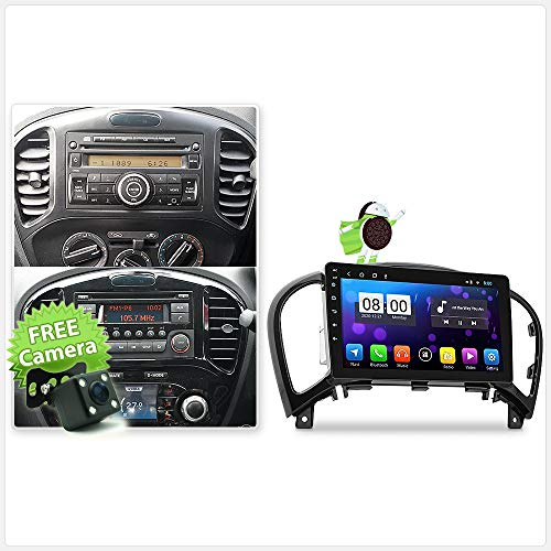TUNEZ 9 Inches Android Car Audio MP3 MP4 GPS MirrorLink Player Compatible With Nissan Juke J15 Year 2010-2019 Radio Stereo Head Unit FHD Fascia Kit (Standard)