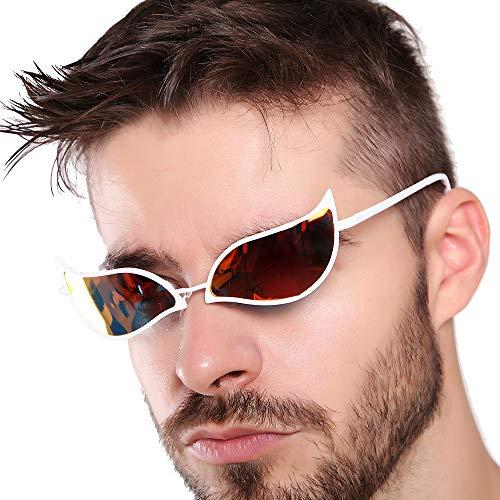 Anime One Piece Doflamingo Cosplay Sunglasses Cosplay Prop 100% Anti UV(White)