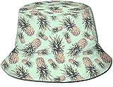 KEROTA Sombrero de pescador con estampado verde de piña, sombrero de pescador, protección solar al aire libre, para pesca de viaje, unisex.