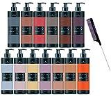 Schwarzköpf Chroma ID Bonding Color Masks, Semi-Permanent Hair Color Dye (w/Sleek Steel Rat Tail Comb) ChromaID Haircolor Masque (Purple - 9.5 oz)