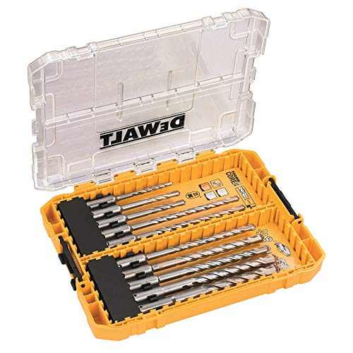 DEWALT DT70753-QZ Tough Case mediana en blíster con 10 brocas SDS Plus Extreme 2