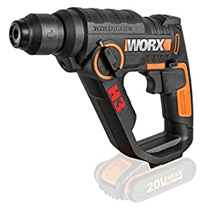 Worx WX390.9 Taladro Atornillador/Martillo H3, 0 W, 20 V, Negro/Naranja