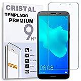 REY Protector de Pantalla para Huawei Y5 2018, Cristal Vidrio Templado Premium