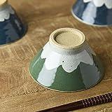 やまに 手しごと 13cm富士山型茶碗 みどり 富士山 3816185