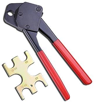 3/8  Pex Crimping Crimper Cooper Ring Plumbing Crimp Tool with Go No Go Gauge
